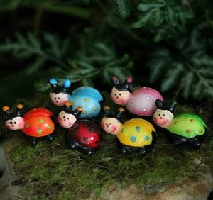This family of lady bugs will add a gorgeous splash of colour to your garden. Bright and cheerful, the fairies