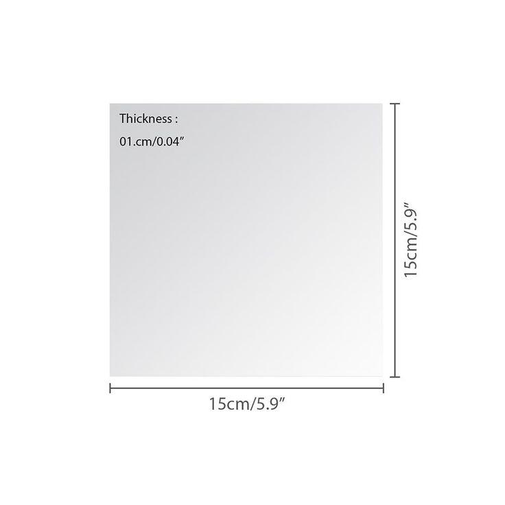 AOLVO Square Mirror Sheets Bathroom Mirror Wall stickers ...