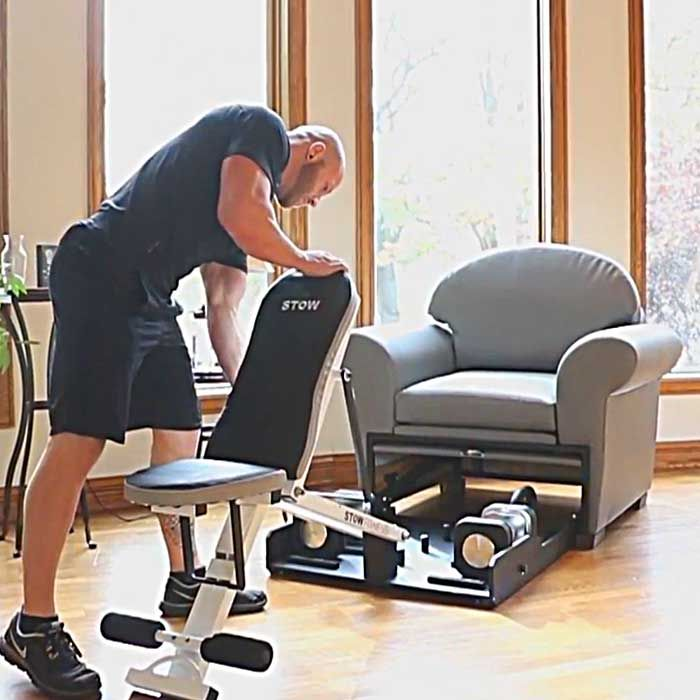 Multipurpose Living Room Furniture That Hides Exercise Equipment In 2021 Multipurpose Living Room No Equipment Workout Furniture