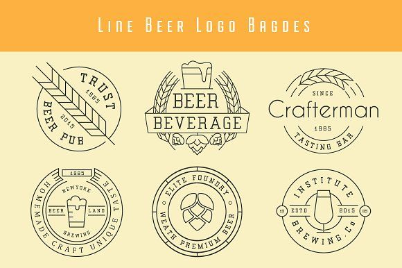 Beer Badges And Logos by lovepower on @creativemarket