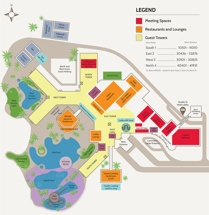 Places To Visit In Florida In April: Orlando World Center Marriott Map