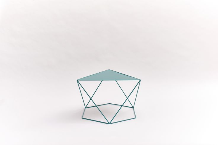 6X120° – Mint Turquoise #design #wiretable #sidetable #table #dutchdesign #steel #steeltable #hexagon #angle #symmetry #green #RAL6033