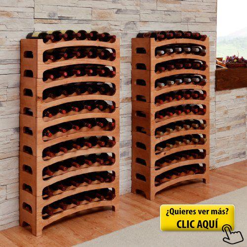 Botellero BOUQUET, madera maciza de pino, color... #botelleros