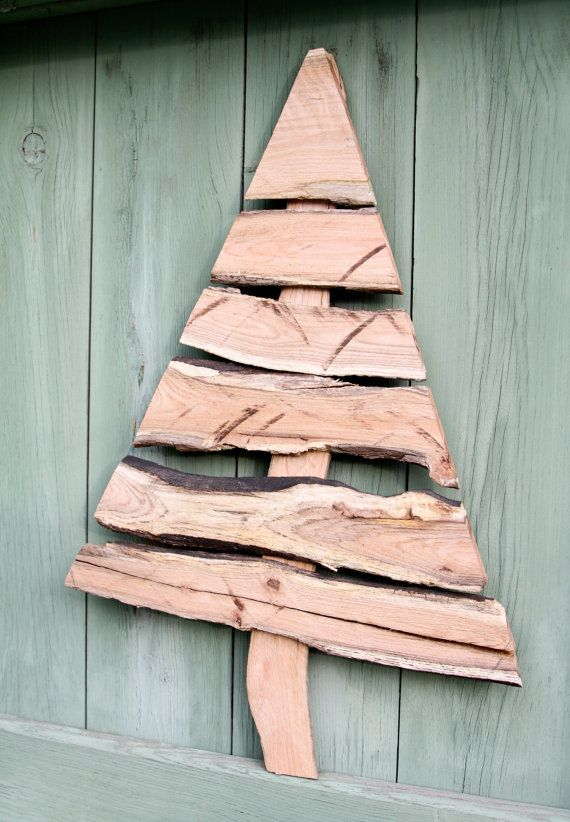 "Rustic 22"" Christmas Tree Wood Christmas Tree by FogHillDesigns, $20.00"