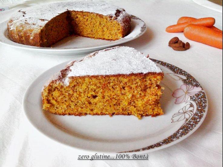 Torta di carote e mandorle senza glutine | zero glutine...100% Bontà