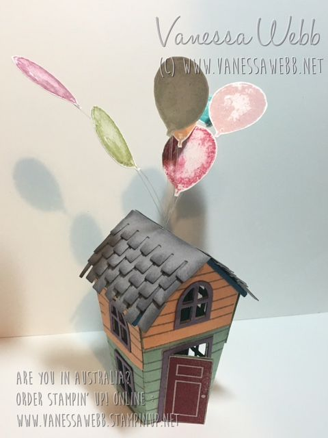 "Home Sweet Home Thinlits - the House from ""Up!""- shop this cute bundle from the NEW Stampin' Up! Holiday Catalogue in my store - shipping anywhere in Australia www.vanessawebb.stampinup.net"