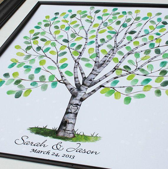 Guest Book Wedding Tree Personalized Wedding Gift Wedding