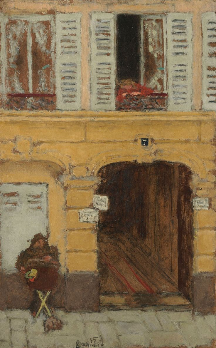 Pierre Bonnard (1867-1947), L'orgue de Barbarie ou Le joueur d'orgue, painted in 1895. 16⅛ x 10⅜  in (40.9 x 26.3  cm).
