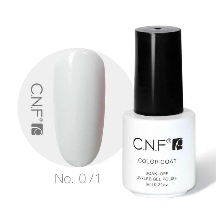 CNF 071 Pure White Color Gel Nail Polish High Quality Gel Liquid 6ml Cured By Uv Led Lamp For Gelpolish Nail Arts DIY