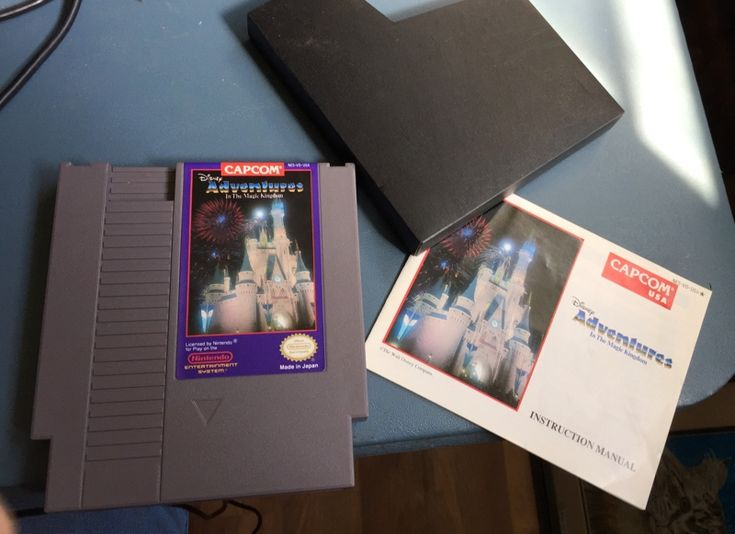 Vintage Working Nintendo NES Game The Magic Kingdom Mickey Mouse Disney Adventures With Case, Manual