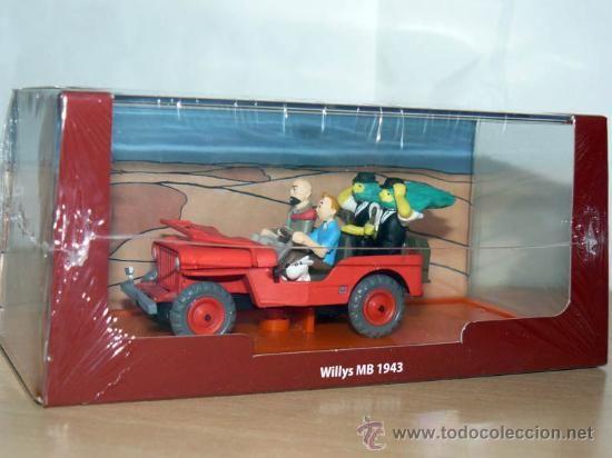 TINTIN Herge Coche WILLYS MB 1943 en el Pais del Oro Negro miniature JEEP TORNASOL HADDOCK MILU