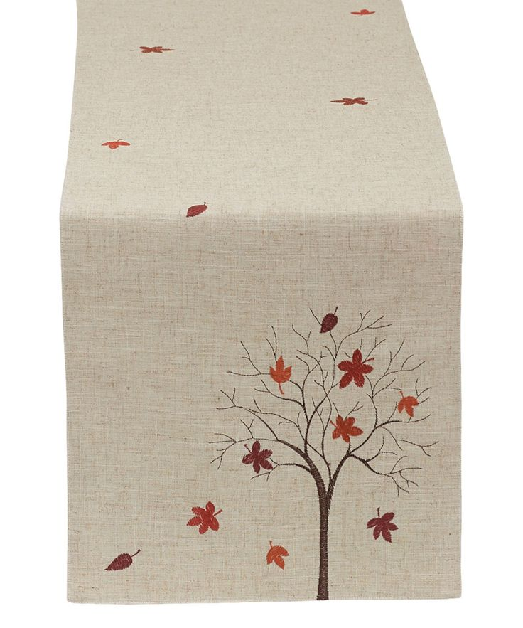 Look at this Fall Tree Embroidered Table Runner on #zulily today!