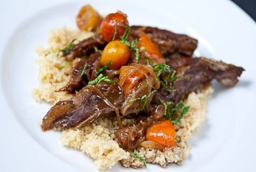 Kumquats are small but mighty, with a big flavor impact! Try this beautiful pairing of Kumquat Lamb Tagine from No Recipes to see what we mean.