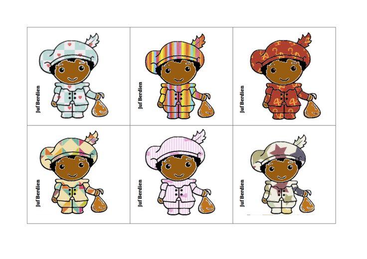 Juf Berdien Lotto spel pietjes patroon 3 Pakje Sinterklaas Zwarte Piet kleuters klas