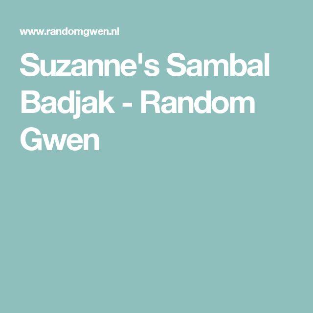 Suzanne's Sambal Badjak - Random Gwen