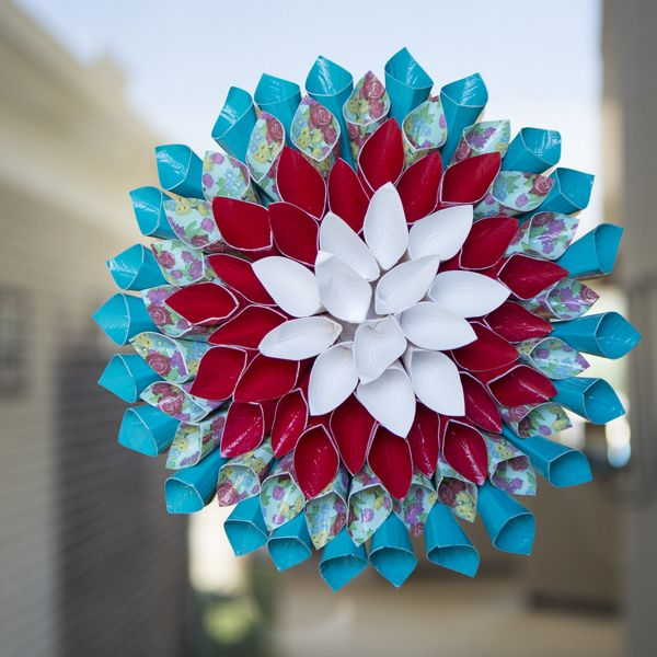 Duck Tape Flower Wreath. Get creative with Duck Tape & earn points for exclusive prizes with #Ducktivities!