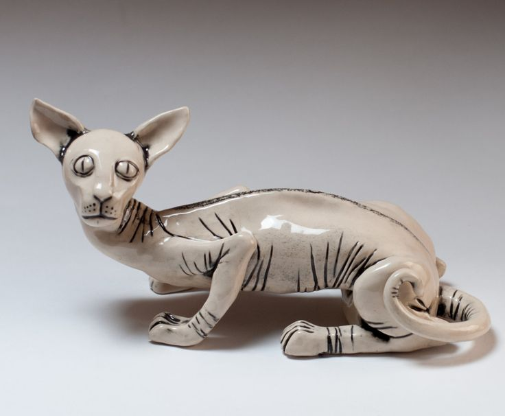 "Ceramic figurine ""Cat"" by KuklaArt on Etsy"