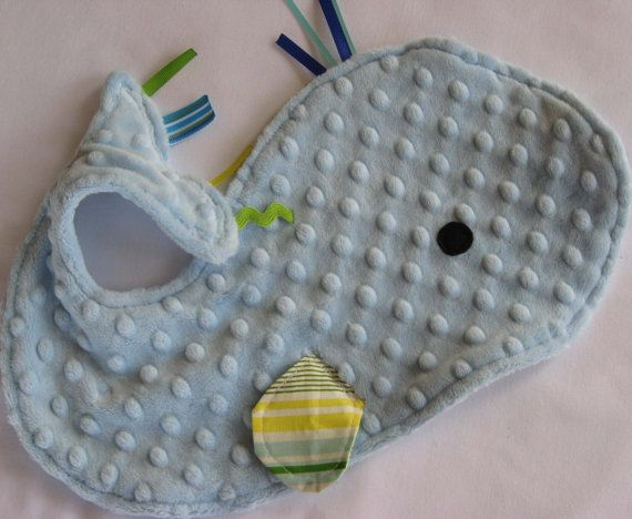 Whale Lovey Security Blanket by IcingOnTheCupcake on Etsy