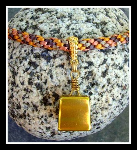 Rock Climber Stopper Necklace Made with Kumihimo Braid. $35.00, via Etsy.