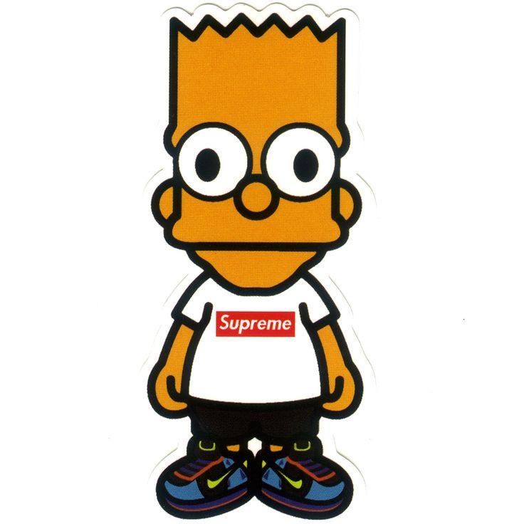 1197 baby milo x bart simpson height 8 cm decal sticker decalstar