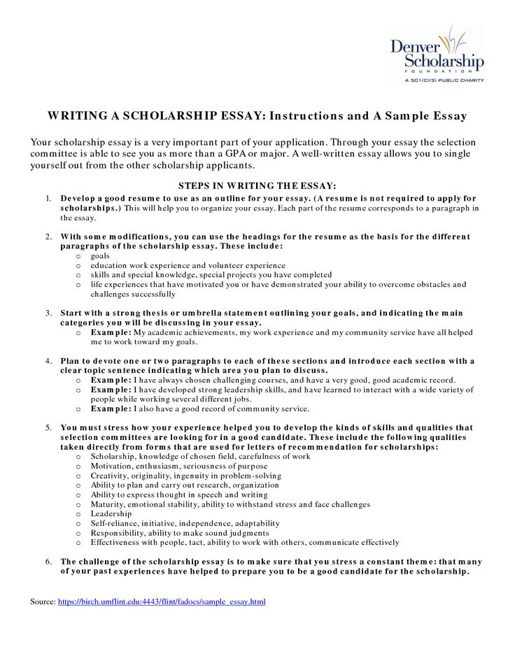 Good Scholarship Essay Examples. Great Articles And Essays About
