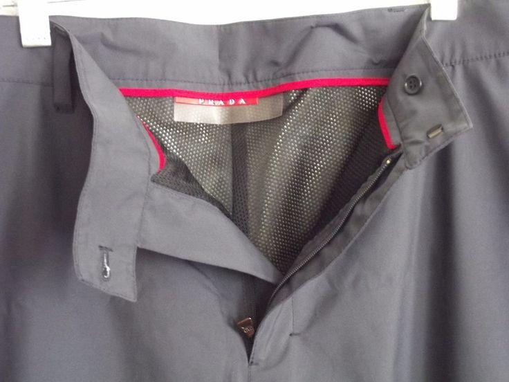 Prada Mens Ski Pants Gore-tex size 52 Dark blue Gray #PRADA