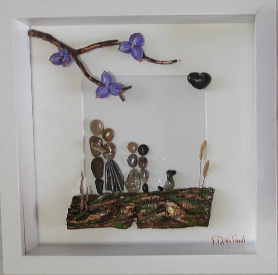Hey, I found this really awesome Etsy listing at https://www.etsy.com/listing/554011607/family-frame-family-of-four-pebble-art