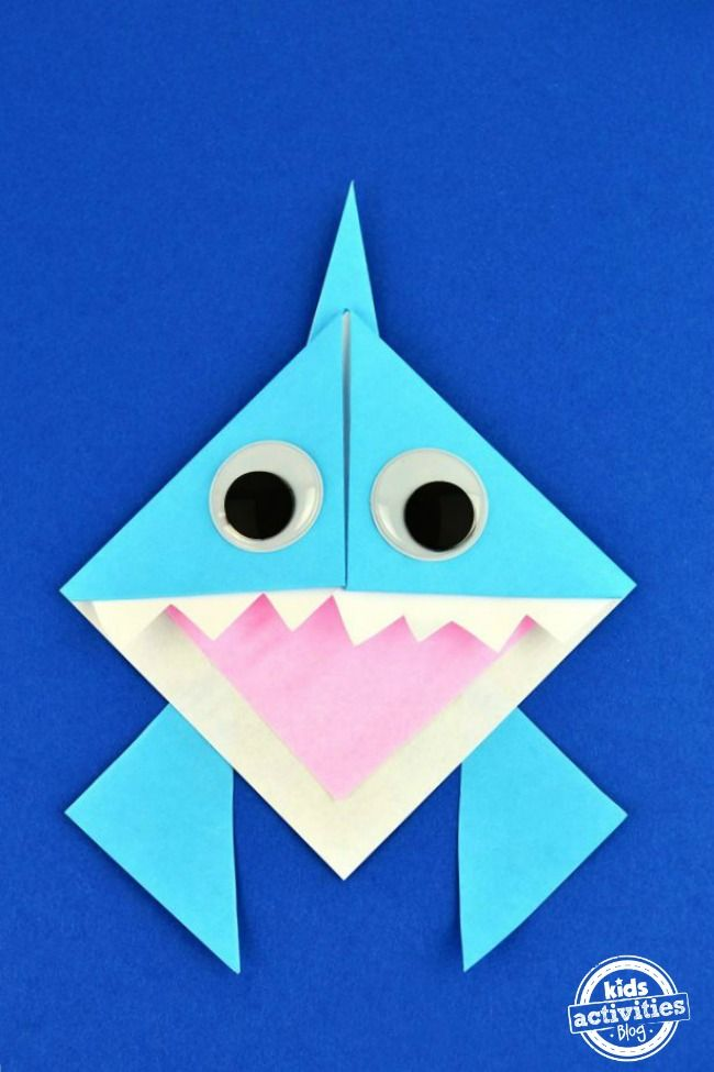 Learn how to make this adorable Origami Shark Bookmark just in time for Shark Week!