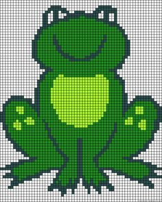 Лягушка Perler шарик шаблон