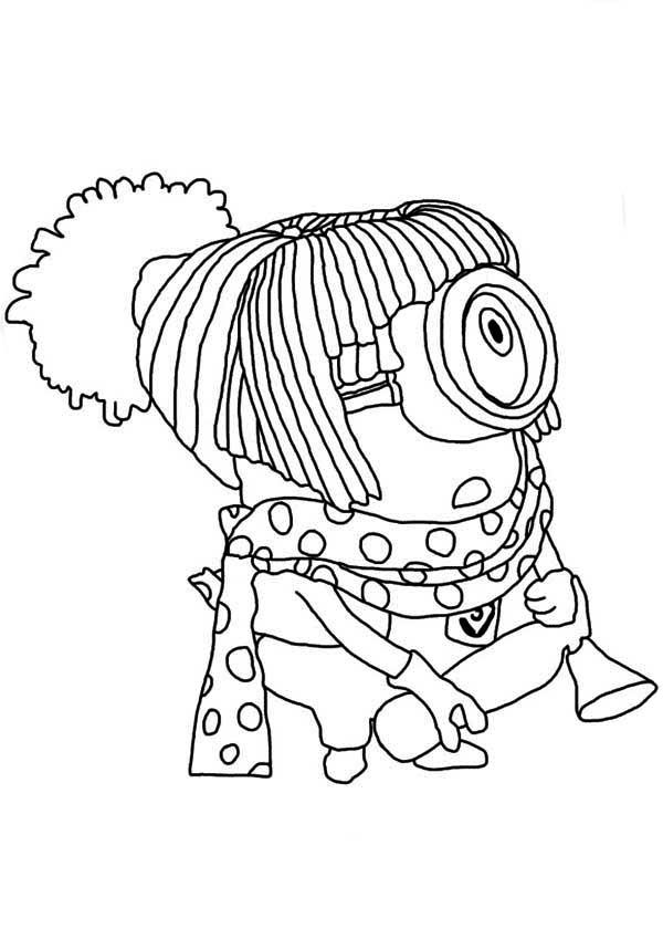 The harajuku minion coloring page