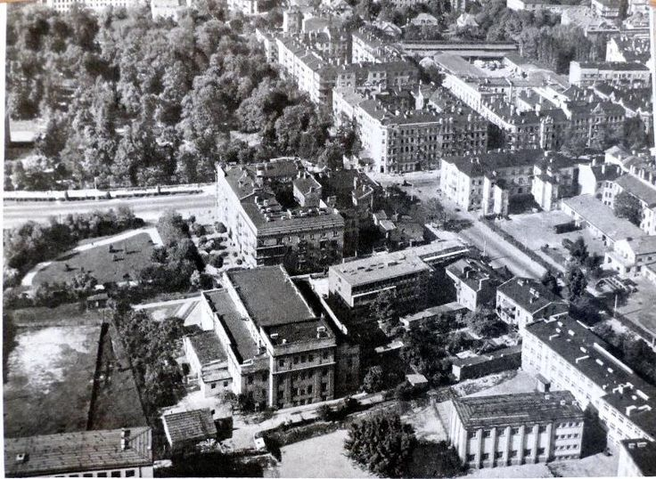 """1964 r. Lipowa/al. Racławickie/KP Źródło: Cz. Gawdzik, H. Gawarecki, """"Lublin. Krajobraz i architektura"""", Warszawa 1964."""