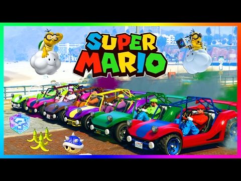 awesome GTA ONLINE SUPER MARIO SPECIAL - ULTIMATE GTA 5 MARIO KART, LUIGI, DONKEY KONG, RAINBOW ROAD & MORE!