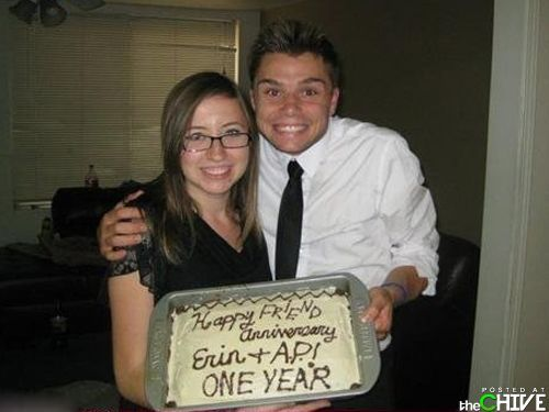 Happy friend anniversary? Welcome to the friend zone, sir.