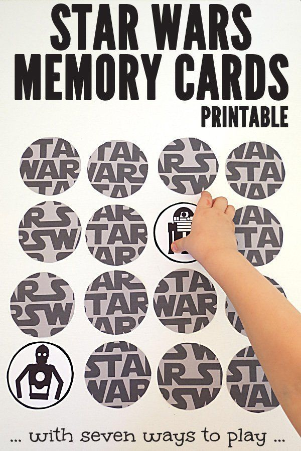 Star Wars Printable Memory Game with 7 ways to play