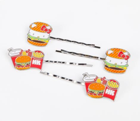 Hello Kitty Hair Pin: Hamburger