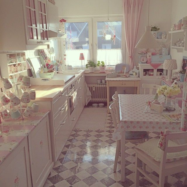 Interesting Facts About Shabby Chic Country Kitchen Design: 1000+ Ideas About Pink Kitchens On Pinterest