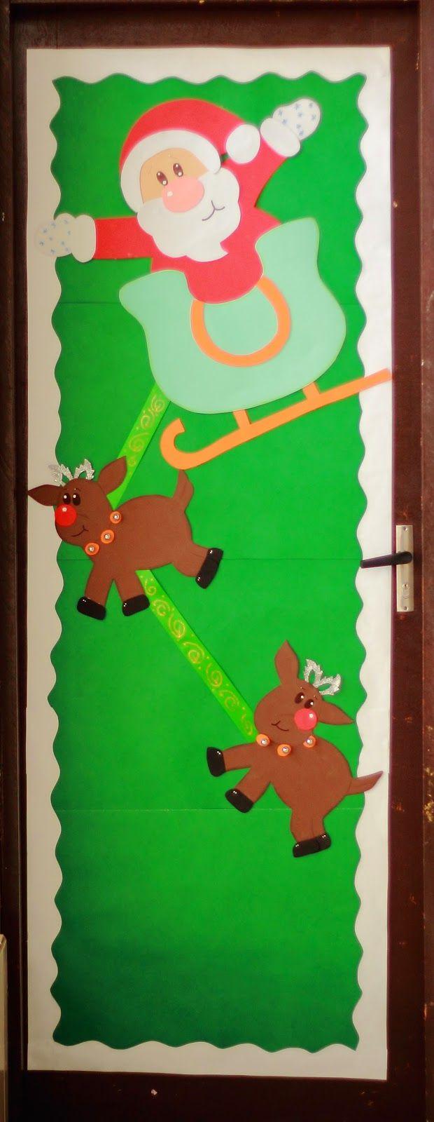 17 mejores ideas sobre puertas decoradas de navidad en for Puertas escolares decoradas