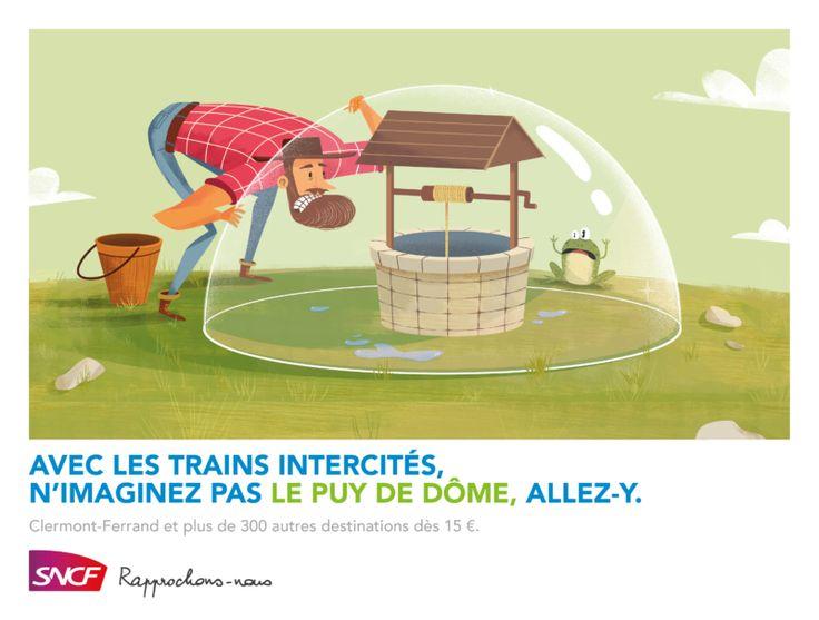 Campagne SNCF Intercités / Clermont Ferrand par TBWA France