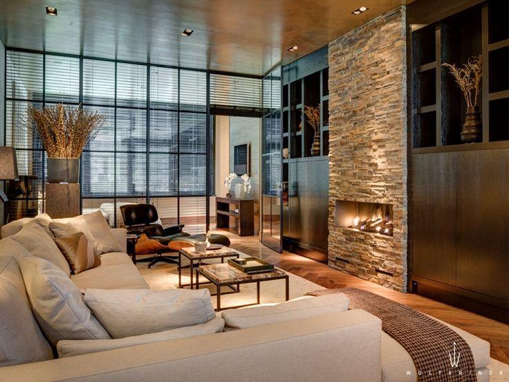 Wolterinck | Project | Wolterinck Laren, fireplace by Ewald Bosgoed open haarden ontwerpstudio