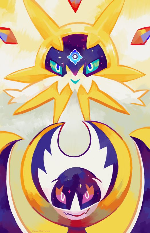 Pokémon Sun and Moon: Soulgaleo and Lunaala by Rinnai-Rai #nintendo #pokemon #fanart