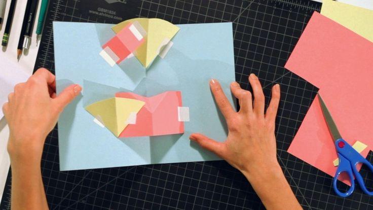 V Is For Volcano How to Make a V-Fold o...