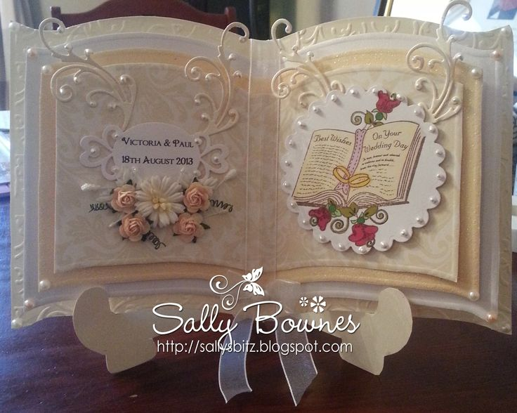 A commissioned Wedding card. You can see more on my blog sallysbitz2.blogspot.co.uk