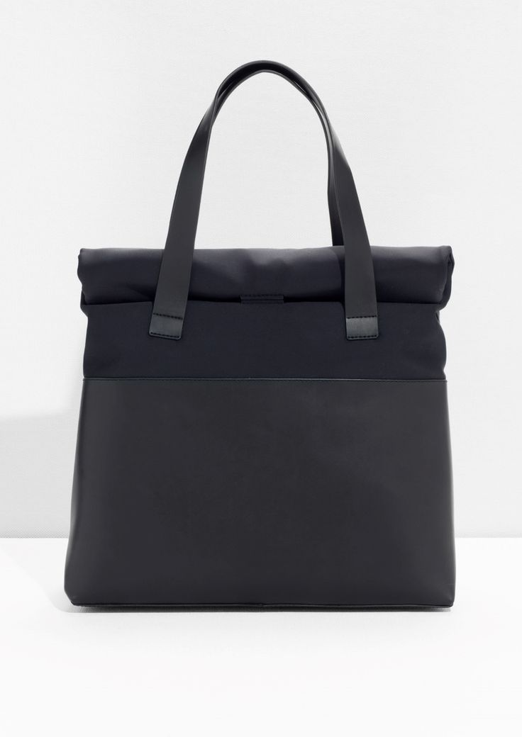 & Other Stories image 1 of Scuba Leather Tote in Black