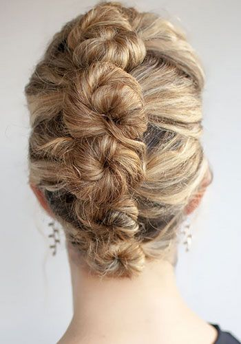 133 best high fashion hair styles images on pinterest for A decoration that is twisted intertwined or curled