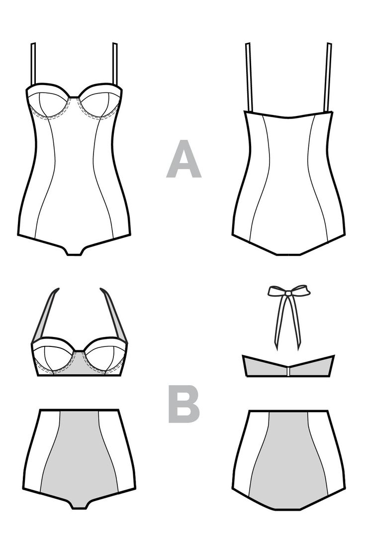 SOPHIE SWIMSUIT PATTERN (PDF)