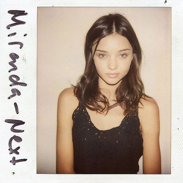 Miranda Kerr's casting polaroid - she actually looks good even without make-up!