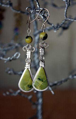 Serpentine and Alpaca Earrings | Flickr - Photo Sharing!