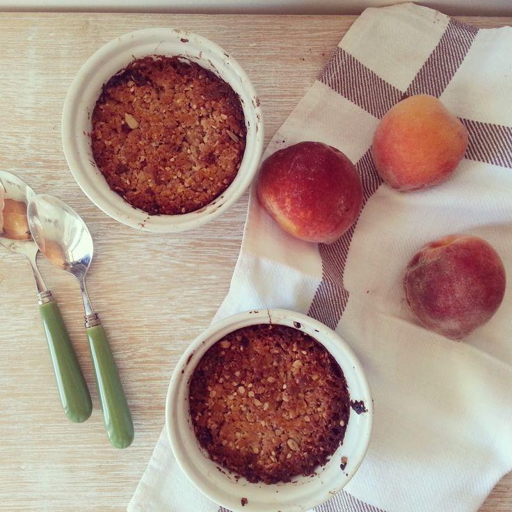 Aloha Cafe: Mini crumbles de pêssego