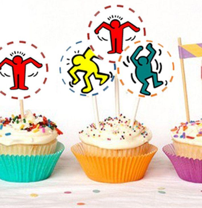 Party pop art, Favolosi anni 80,cake topper, party, 80's. file digitale di spremutadipois su Etsy