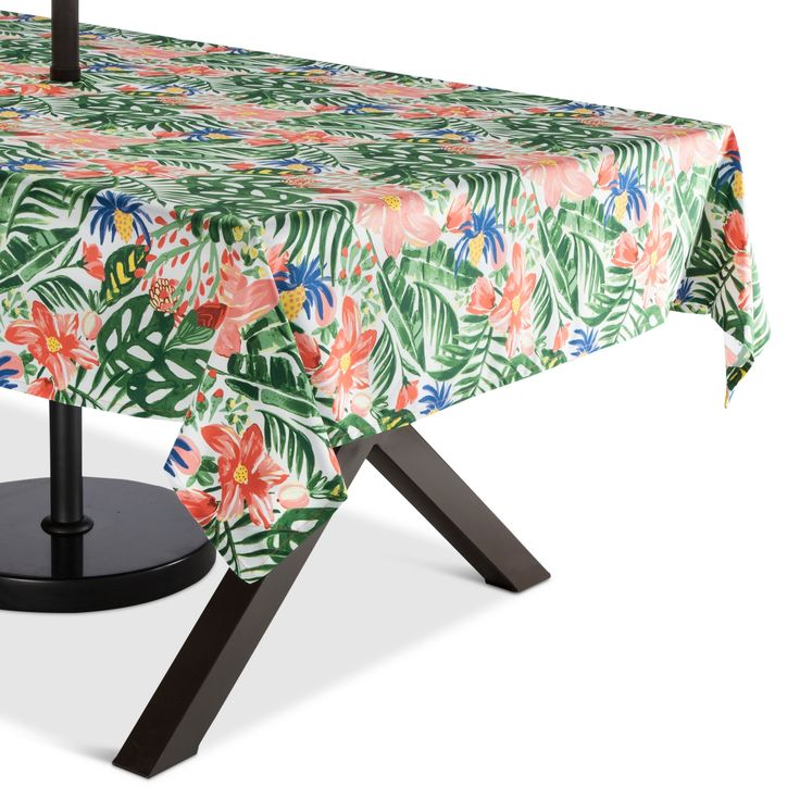 Green Floral Tablecloth Weight, Lawn Green